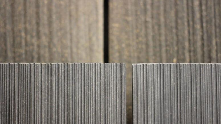 Terrassendielen WPC grau Ausstellung Holz Münker